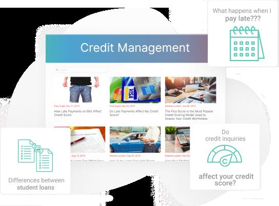 Manage credit blog images