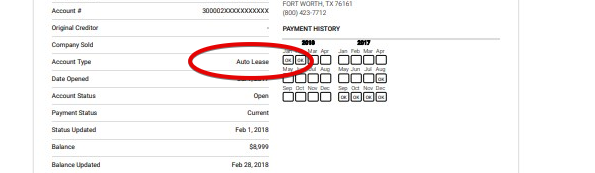 Auto Lease form.