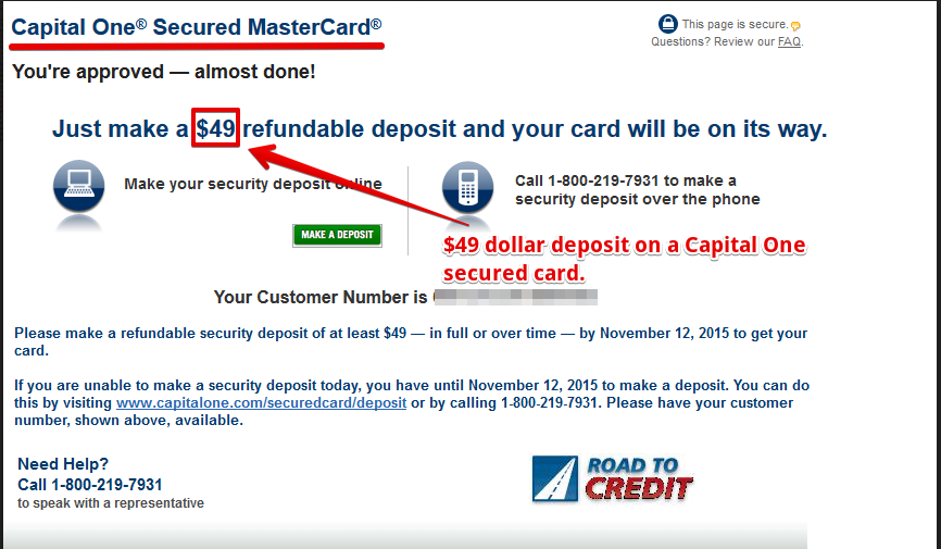 Snapshot of Capital One® website.